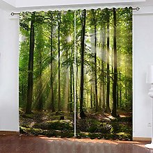 ZDPLL Blackout Curtains 3D Sunny forest Thermal
