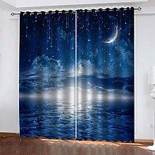 ZDPLL Curtain Blackout Blue night 3D Print Super