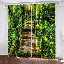 ZDPLL Curtain Blackout Green Forest & Suspension
