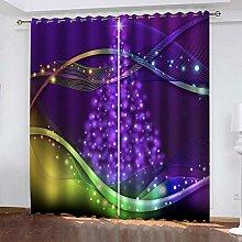 ZDPLL Curtain Blackout Purple christmas tree 3D