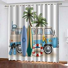 ZDPLL Curtain Blackout Surfboard & bus 3D Print