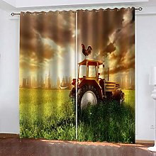 ZDPLL Curtain Blackout Tractor at dusk 3D Print