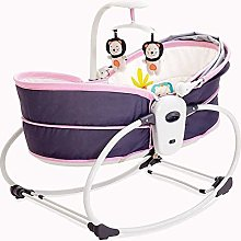 ZDW Portable Baby Cradle Crib Bed Rocking Chair