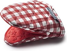 Zeal Gingham Mini Mitt Pot Holder, Cotton, Red,