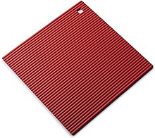 Zeal Silicone Heat Resistant Non-Slip Trivet, Red,