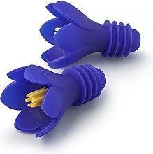 Zeal W226V Bottle Stopper, Purple Set of 2