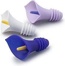 Zeal W229 Bottle Stopper, Lilac/Purple/White Set