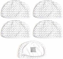 Zealing 5 Pack Steam Mop Cloth Pad Replacement For