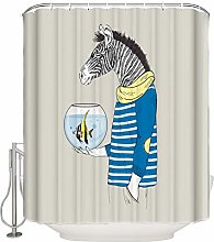 Zebra Aquarium Fish Stripes Waterproof Fabric