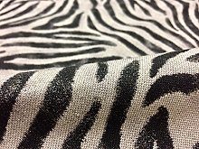 Zebra Black Stripes Print Designer Fabric Linen