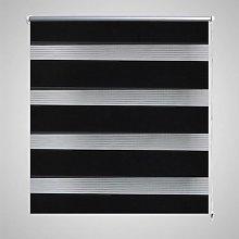 Zebra Blind 100 x 175 cm Black