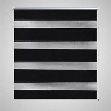 Zebra Blind 140 x 175 cm Black