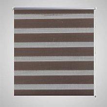 Zebra Blind 40 x 100 cm Coffee - Brown