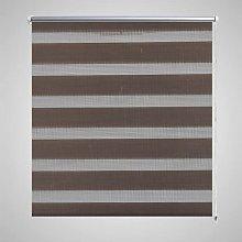 Zebra Blind 50 x 100 cm Coffee VD08112 - Hommoo