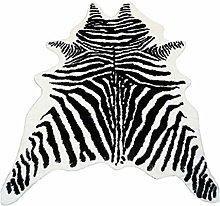 Zebra Print Rug Faux Animal Cowhide Skin Area Rug