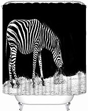 Zebra Shower Curtain Waterproof Polyester Fabric