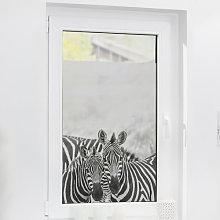 Zebra Window Sticker East Urban Home