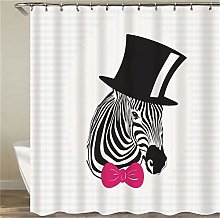 Zebra With A Bowler Hat. Shower Curtain: 180 X 180
