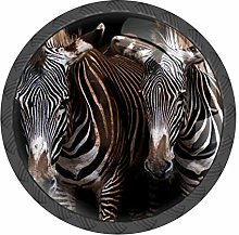 Zebras Knobs and Pull Handle for Dresser Chest of