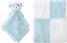 ZECHREY Nursery Blanket Set Unisex Plush Fleece
