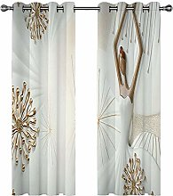 ZEEKYLY Blackout Curtains Eyelet Thermal Insulated