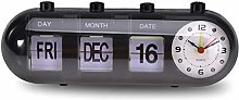 Zeen Date Timer Calendar Desk Display Clock Flip