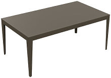 Zef Rectangular table by Matière Grise Taupe