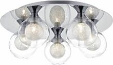 Zeke ceiling light polished chrome and glass 5