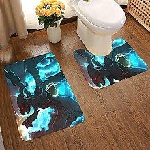 Zekrom Soft Flannel Floor Mats Carpets Non-slip