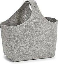 Zeller 14370Storage/Magazine Basket, Felt, Grey,