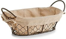Zeller Bread Basket Countrystyle 26x17x9cm of