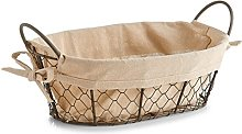 Zeller Bread Basket Countrystyle 30x21x11cm of