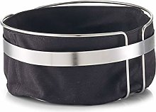 Zeller Bread basket with bag Ø22x10,8cm in black,