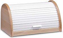 Zeller Bread Bin 39x25x21cm in white, Wood, 39 x