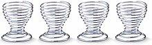 Zeller Egg Cup Set, chromed stailess steel,