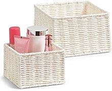 Zeller Storage Basket, Brown, 2-Piece