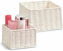 Zeller Storage Basket, Brown, 2-Piece