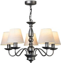 Zellers 5 Light Shaded Chandelier Marlow Home Co.