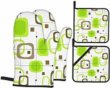 ZELXXXDA Oven Mitts and Pot Holders Sets of