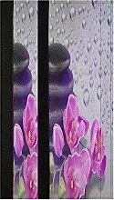 Zen Stone Orchid Refrigerator Door Handle Covers 2