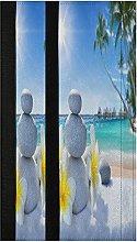Zen Stone Palm Tree Refrigerator Door Handle
