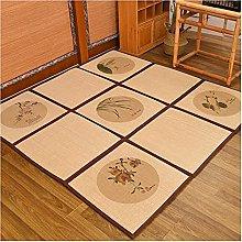 ZENGAI Foldable Bamboo Runner Rugs Carpet, Living
