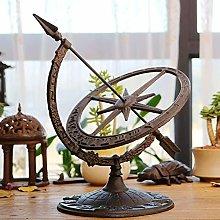 zenggp Cast Iron Garden Sundial Wind Armillary