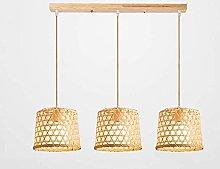 Zenghh Bamboo Art Ceiling Lamp Creative Hand-Woven