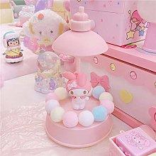 Zenghh Hello Kitty&My Melody Pink Desktop Lamp,