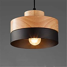 Zenghh Loft Rustic Wood+Iron Pendant Light Modern