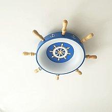 Zenghh Nautical Rudder Ceiling Light Pirate Ship