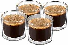 ZENS Double Walled Espresso Shot Glasses, 4 Ounce