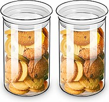 ZENS Glass Canister Jars, Airtight Cylinder Cookie