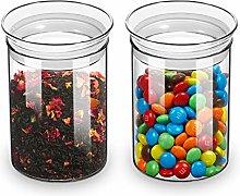 ZENS Glass Canister Jars, Airtight Cylinder